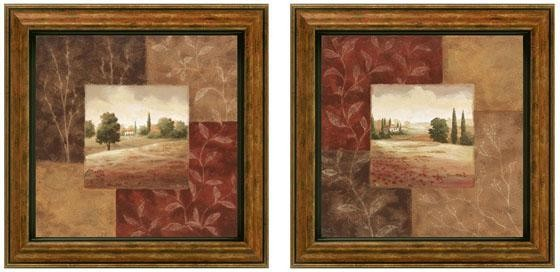 poppy fields framed wall art set of 2 traditional. Black Bedroom Furniture Sets. Home Design Ideas