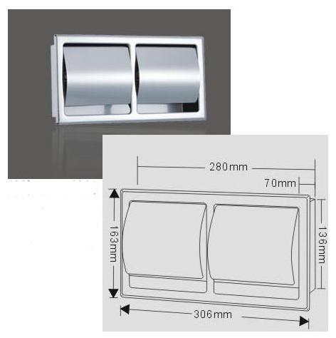 Bathroom Recessed Toilet Roll Holder toilet-paper-holders