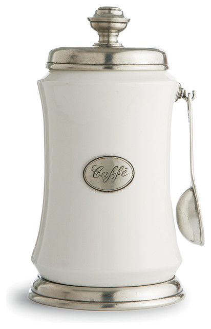 Tuscan Coffee Canister with Spoon - Traditional - Kitchen Canisters And Jars - by Arte Italica