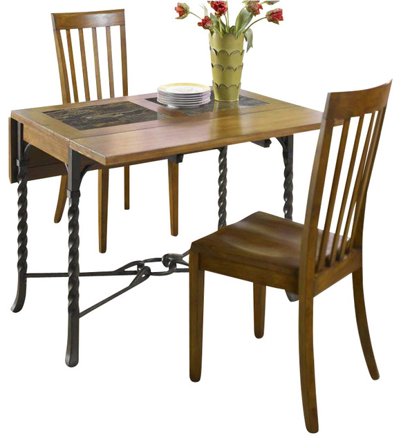 Medley 3 Piece Drop Leaf Dining Table Set Transitional Dining Tables