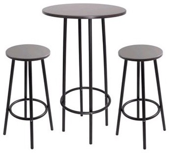 Zella Bar Table and Stool Set  in Espresso modern bar tables