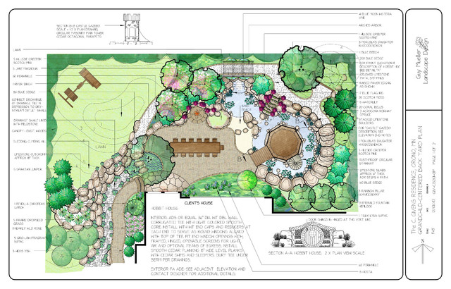 Design example grandchild centered backyard site and for Examples of small garden design