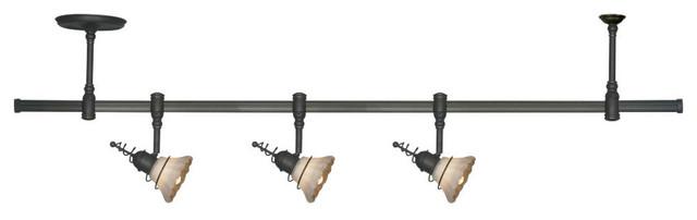 Sea Gull Lighting 94511-71 Ambiance Saratoga Bronze Pendant Track Kit transitional-pendant-lighting