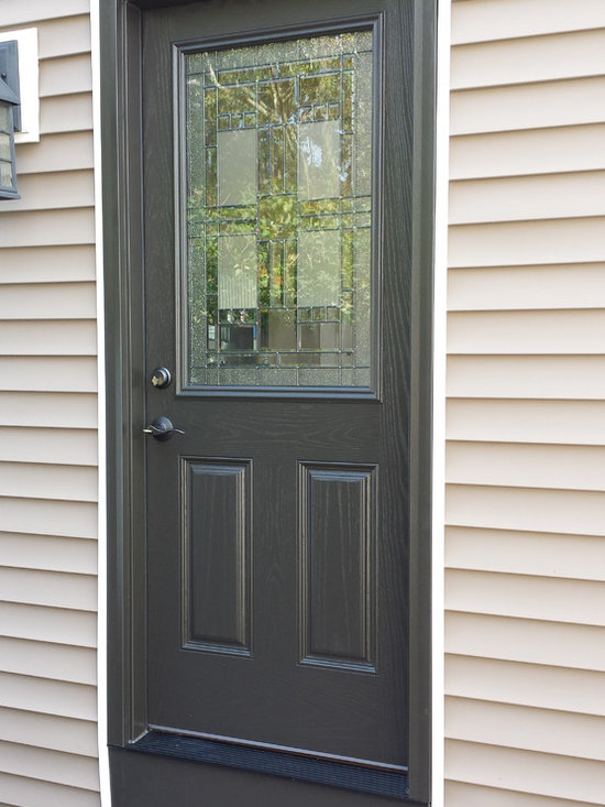 Doors - The homeowners chose this half-light Provia door for their side entry.  The additional light it offered was a welcome relief to their dark hall.