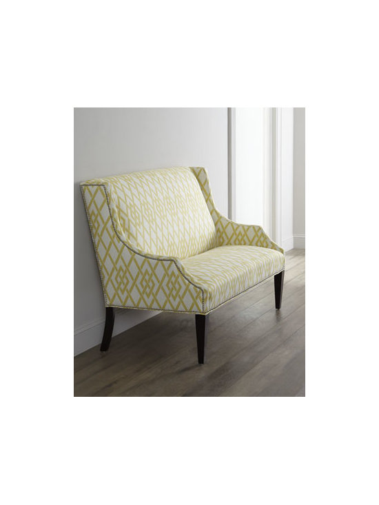 Horchow - 'Lemon Maze' Settee - A lemony yellow settee would be just the bit of freshness you need in a kitchen. Whether used to pack people in for a dinner party or lounge with the newspaper and a cup of coffee, this is one versatile piece of furniture.