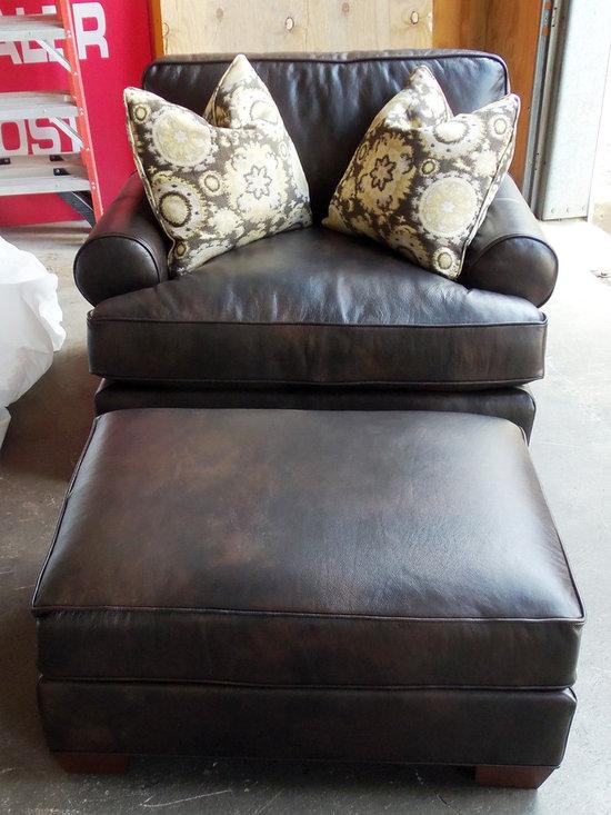 Customer Custom Orders - King Hickory Henson Chair and 1/2 and Ottoman