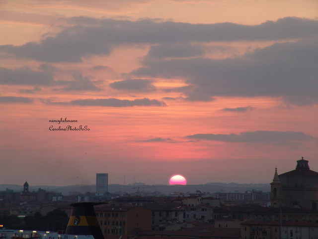 Florence, Italy, Sunset mediterranean-artwork