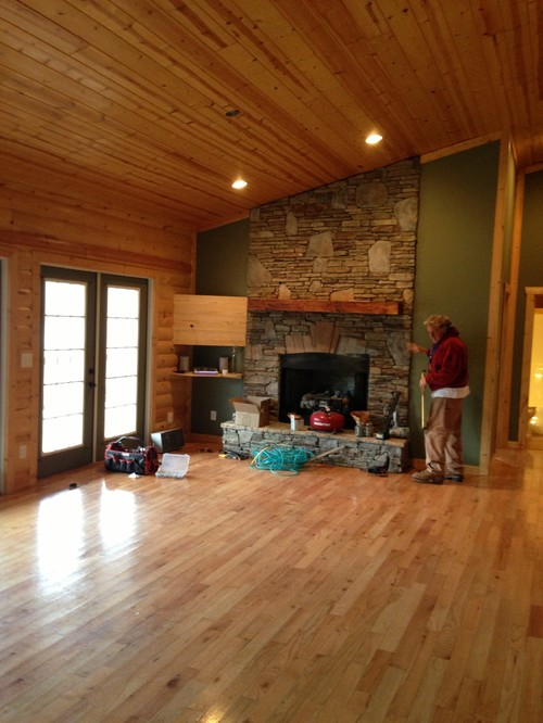 Interior Paint Colors Houzz Interior Paint Color For Log Cabin Style  Greatroom