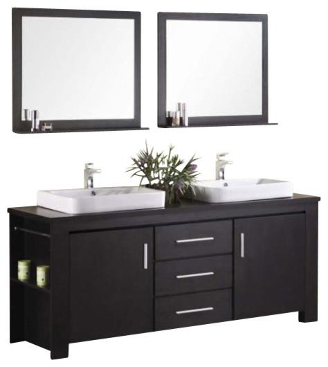 72 Double Sink Vanity Espresso