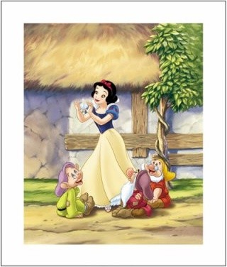 Snow White, Two Hearts Wall Art modern-artwork