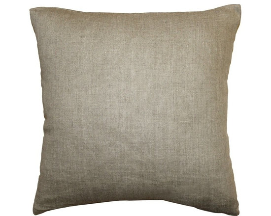 Pillow Decor - Pillow Decor - Tuscany Linen Natural 17 Throw Pillow - The Tuscany Linen Throw pillows are 100% linen with a soft natural linen touch and texture. Available in a range of colors and sizes, these linen pillows are ideal solid color accent pillows for your bed or sofa. Mix and match to complement other accent colors in your home.