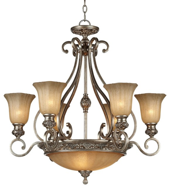 """Traditional Kathy Ireland Sterling Estate 34 1/2"""" Wide Silver Chandelier traditional-chandeliers"""