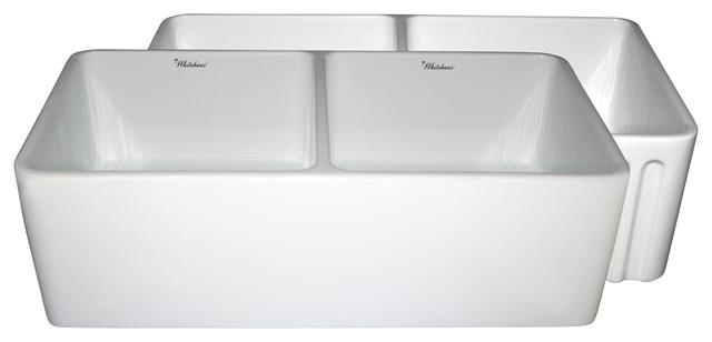 Whitehaus Whflpln3318-Blue Reversible Sink contemporary-kitchen-sinks
