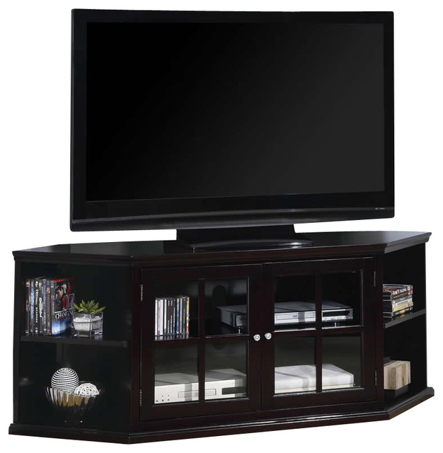 Coaster Fullerton Transitional Corner Media Unit with Doors - Modern - Media Storage - by Cymax