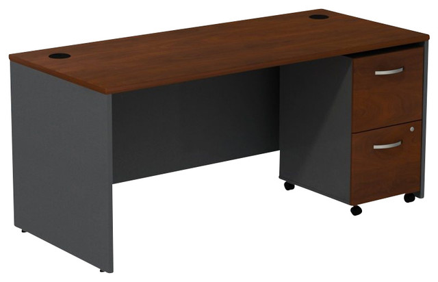 "Bush Series C 72"" Desk with 2-Drawer File Cabinet in ..."
