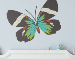 Fig. 1 Butterfly Decals, Blue Moth contemporary decals