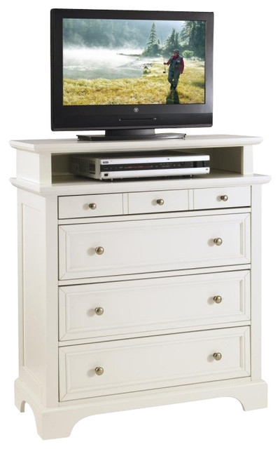 home styles naples tv media chest white finish farmhouse