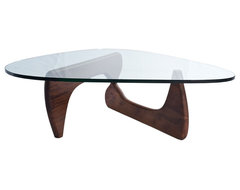 Tribeca Coffee Table By Lamoderno, Dark Walnut Solid Wood Base modern-coffee-tables