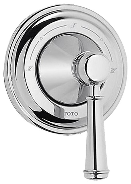 Toto TS220X1#PN Vivian Three-Way Diverter Trim with Off - Lever Handle modern-bathroom-faucets-and-showerheads