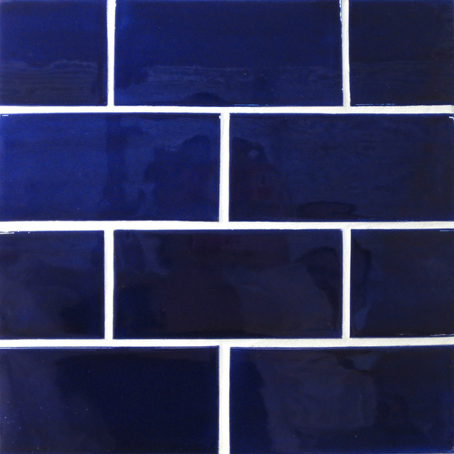 X6 Subway Tile In Cobalt Eclectic Tile Minneapolis By