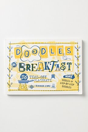 Doodles At Breakfast Placemats eclectic-placemats