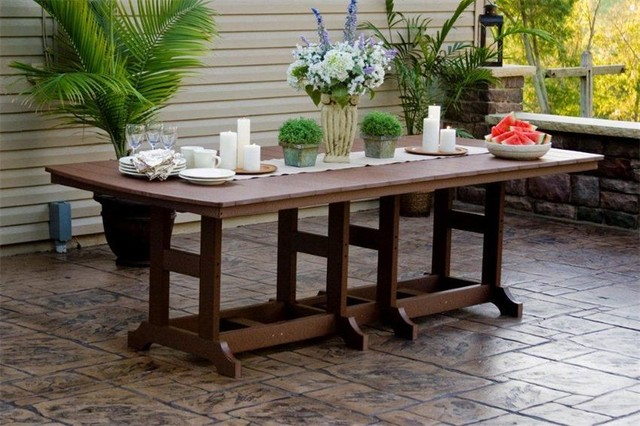 Orchid Polywood Outdoor Dining Set Tropical