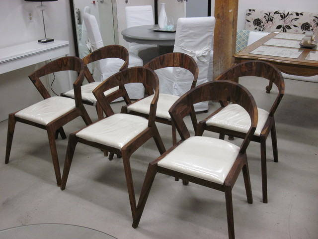 Danish Inspired Mid Century Modern Solid Wood Dining Chairs