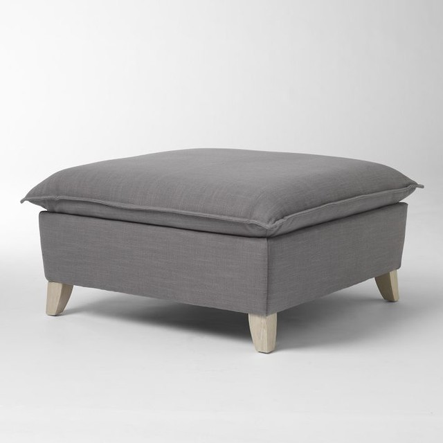 bliss ottoman modern footstools and ottomans by west elm