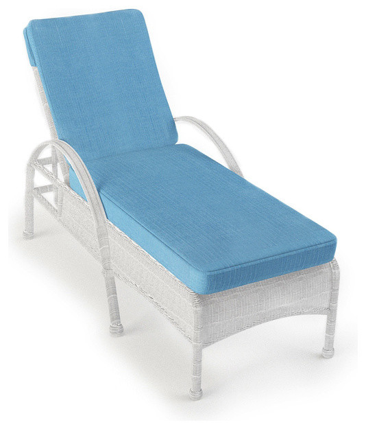 Rockport Outdoor Wicker Chaise Lounge, White Wicker - Traditional - Outdoor Chaise Lounges - by ...