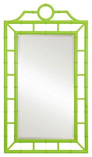 Chloe Mirror in Bright Green modern-wall-mirrors