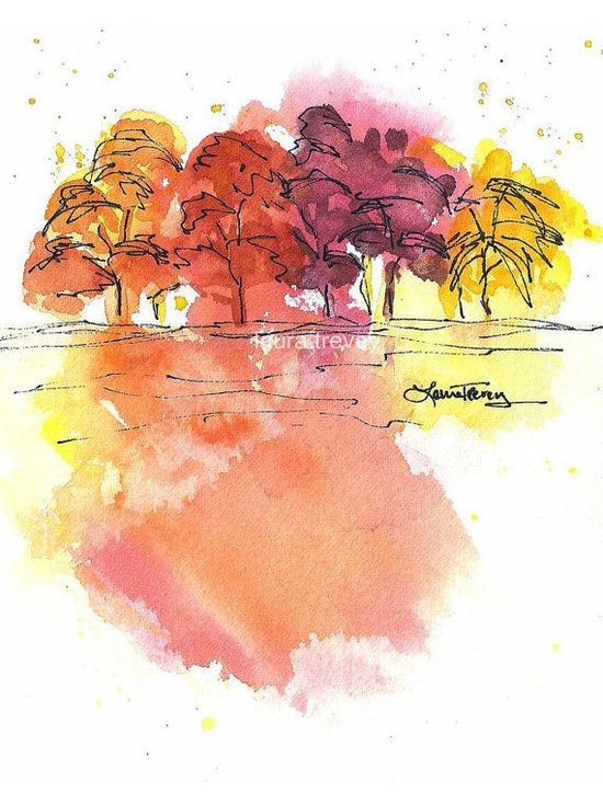 Colors of Fall Watercolor Print by Bright Bold & Beautiful -