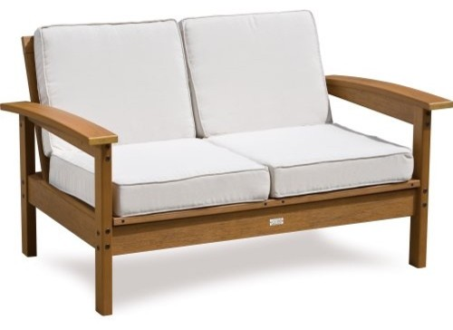 Nothings more relaxing than settling into the EON Resin Outdoor Loveseat with f contemporary outdoor sofas