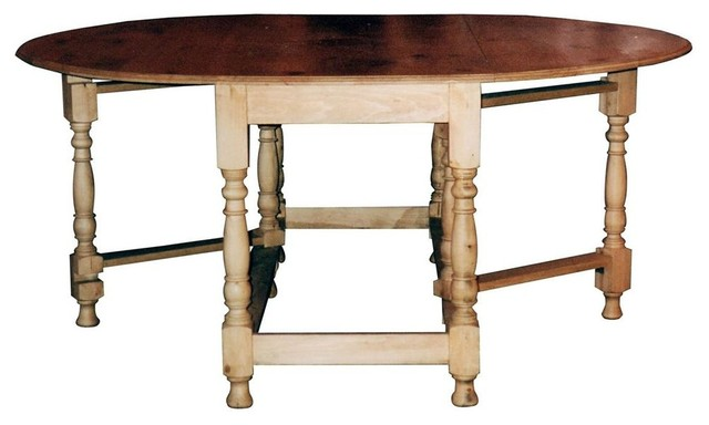 Rectangular Based Oval Drop Leaf Gateleg Table w Stretcher  : traditional dining tables from www.houzz.com size 640 x 384 jpeg 38kB