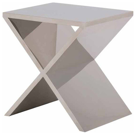 Prague Side Table - Polished Stainless modern-side-tables-and-end-tables