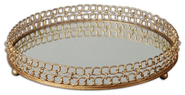Dipali Mirrored Tray traditional-serving-trays