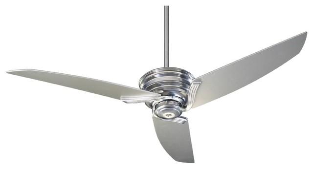 "Contemporary 56"" Quorum Nova Brushed Nickel Ceiling Fan contemporary-ceiling-fans"