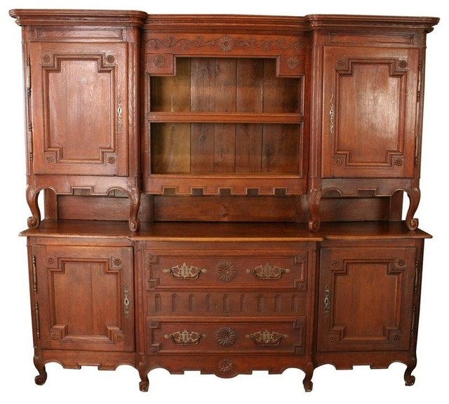 Used Large Antique French Country Buffet Server C. 1800 - Farmhouse - Buffets And Sideboards ...