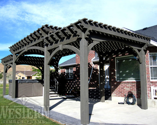 Entertainment Size Pergolas - Western Timber Frame three tiered