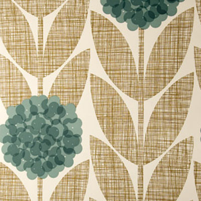Orla Kiely Flower Blossom Wallpaper eclectic-wallpaper