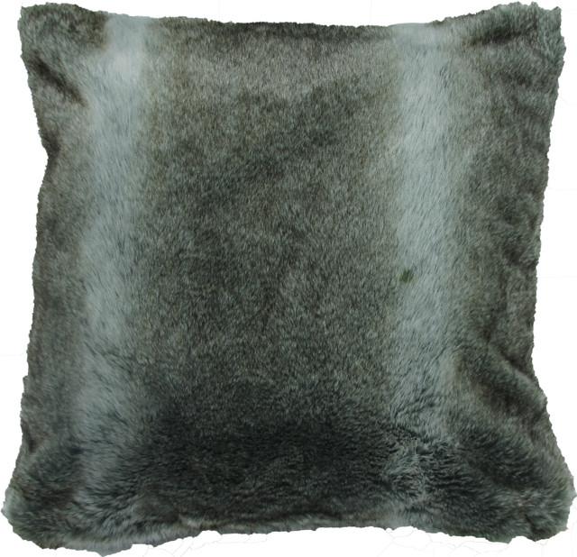 Chinchilla Faux Fur Pillow contemporary-pillows