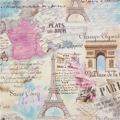 French themed bathroom decor - Retro Paris Eiffel Tower Fabric By Timeless Treasures