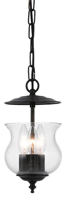 Crystorama Ascott Bowl Pendant Light in English Bronze traditional-pendant-lighting