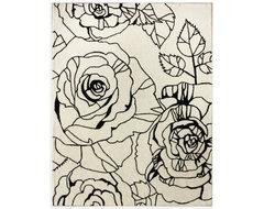 nuLOOM HSNOC06A Bold Floral Area Rug - Ivory modern-rugs
