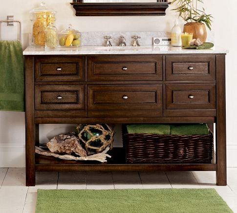 Classic Single Wide Sink Console, Espresso Finish traditional bathroom vanities and sink consoles