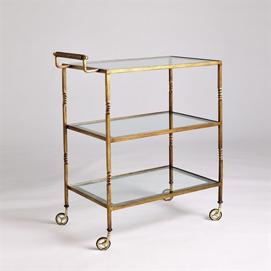 Leland Drinks Cart by Jan Showers traditional bar carts