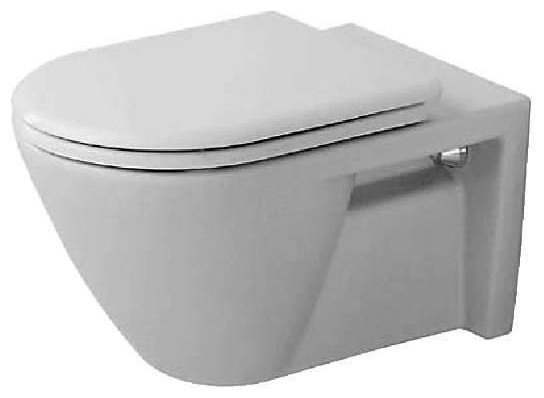 Duravit 0160090000 White Starck 2 One-Piece Elongated Wall-Mounted contemporary-toilet-accessories