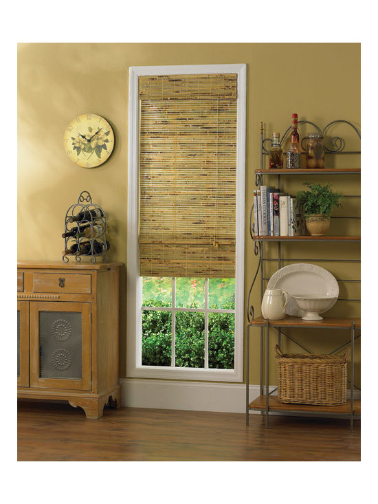 """Steve's Exclusive Collection Woven Wood Shades - Bamboo Roman 72"""" Height"""