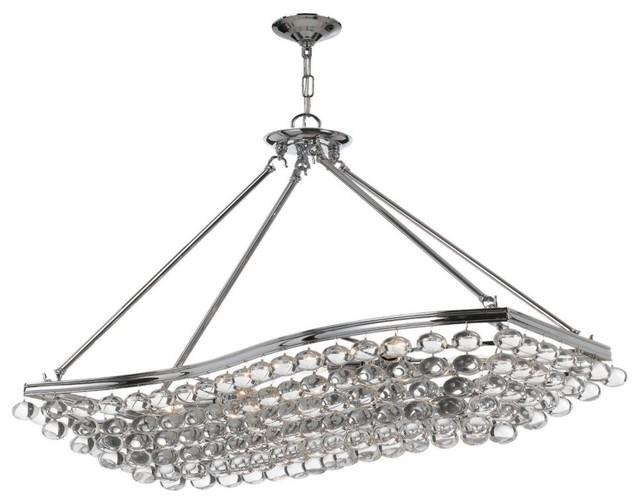 Crystorama 139-CH Calypso Chandelier - 14.5W in. - Polished Chrome modern-chandeliers