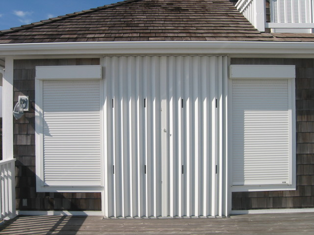 Varous Accordion Shutter Installations contemporary-cellular-shades