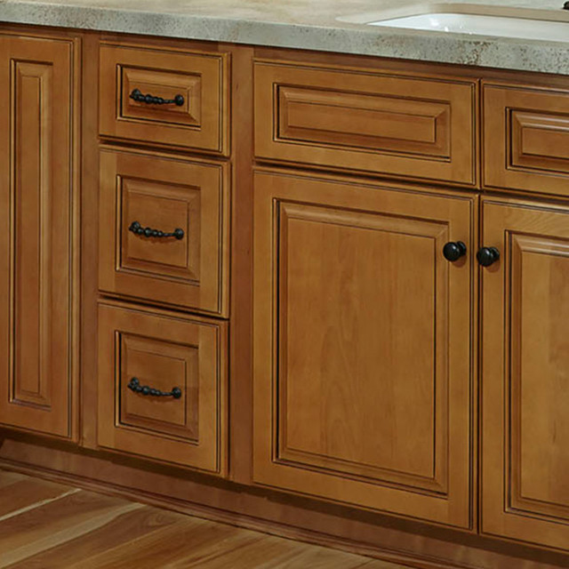 Westminster Glazed Toffee Kitchen Cabinets Contemporary